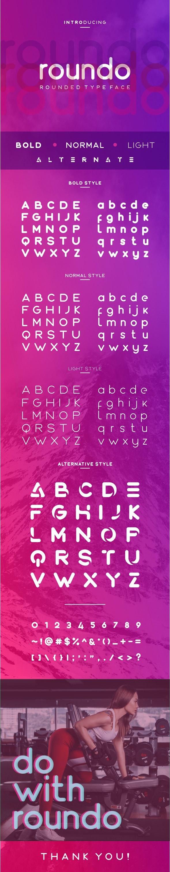 Roundo - Rounded Typeface - Sans-Serif Fonts