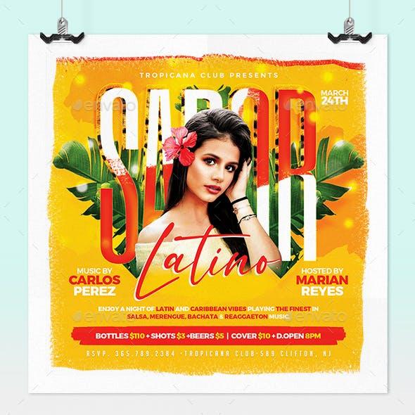 Sabor Latino - Latin Party Flyer