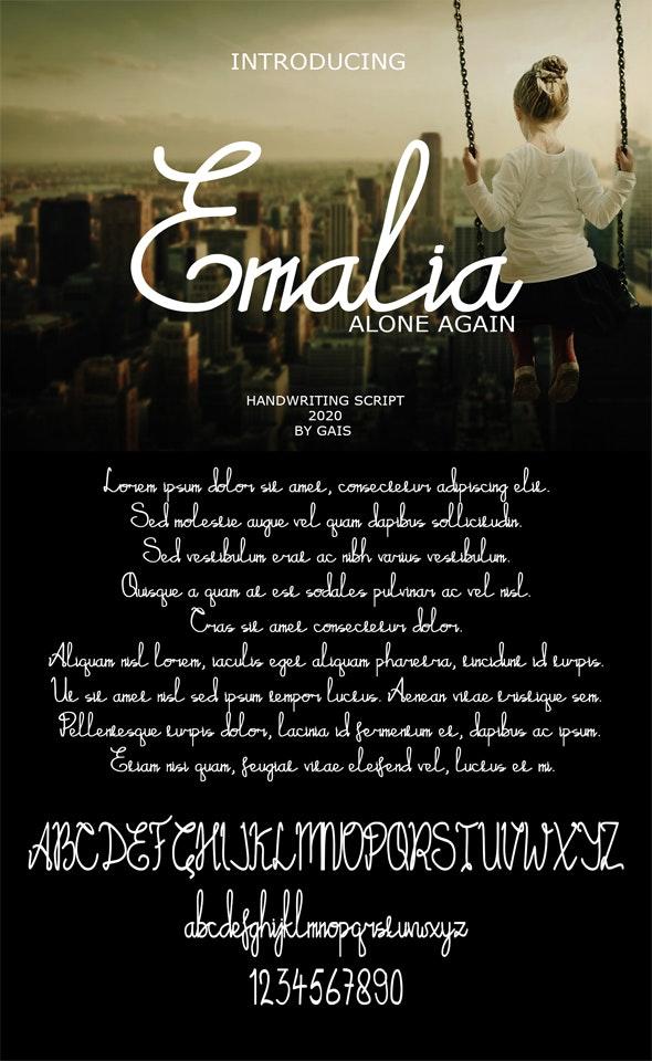 Emalia Handwriting - Handwriting Fonts