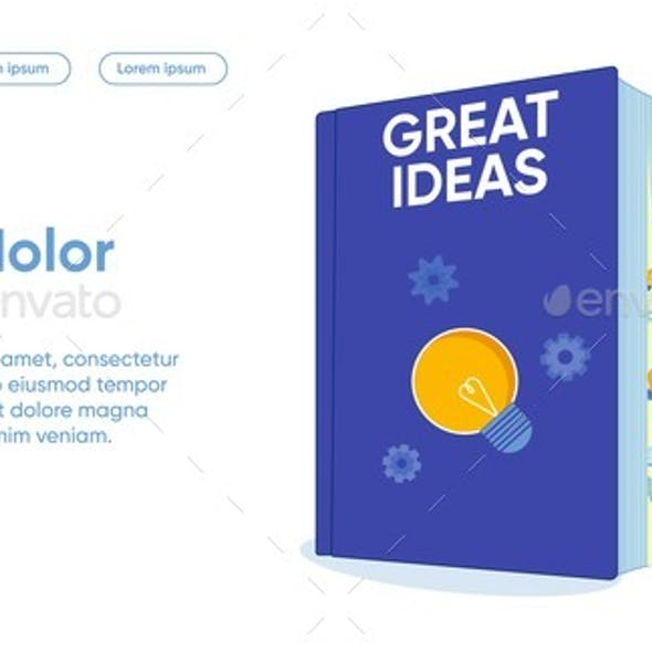 Great Ideas Flat Landing Page Vector Template