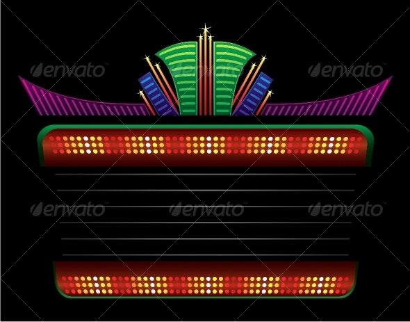 Classic colorful neon - Decorative Symbols Decorative