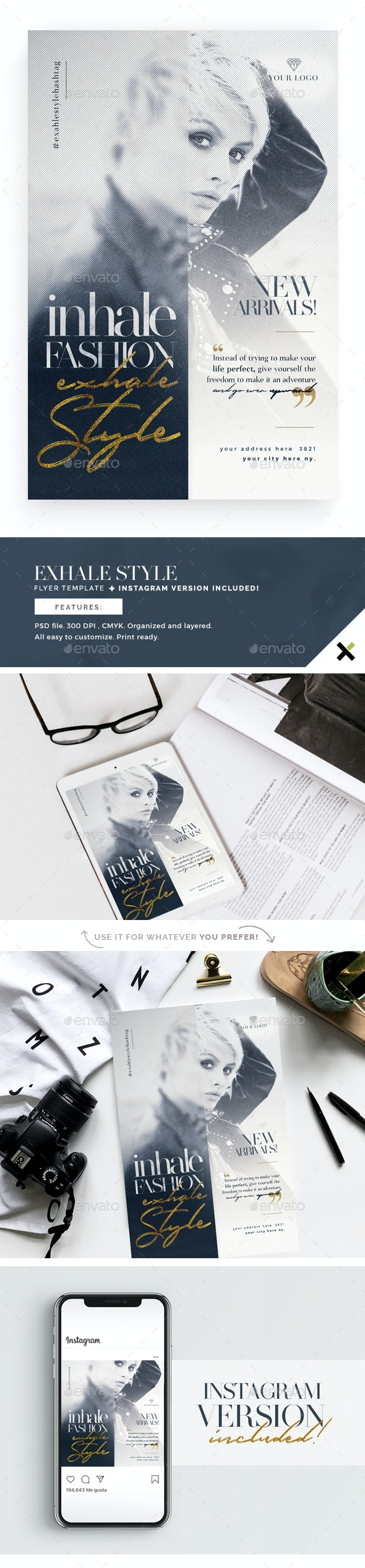 Exhale Style Flyer Template - Flyers Print Templates