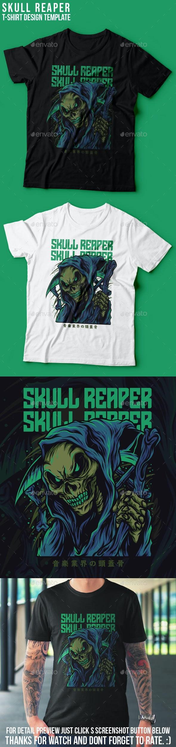 Skull Reaper T-Shirt Design - Clean Designs