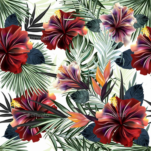 Tropical Palm Leaves And Flower Pattern By Fleurdesign Graphicriver Find & download free graphic resources for tropical flower. https graphicriver net item tropical palm leaves and flower pattern 25672572