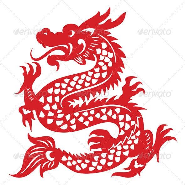 Papercut Dragon - Monsters Characters