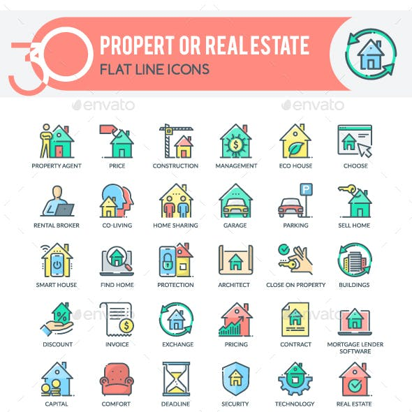 Property or  Real Estate Icons
