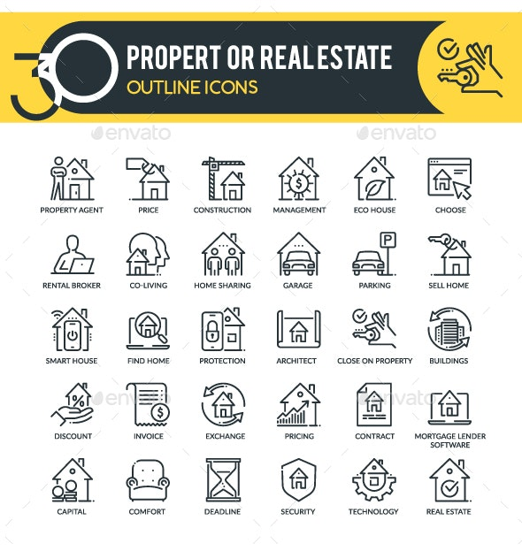 Property Outline Icons - Business Icons
