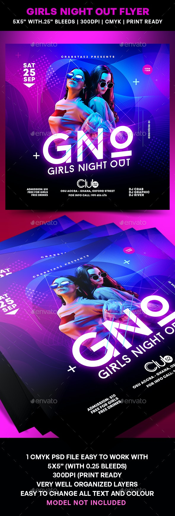Girls Night Out Flyer - Flyers Print Templates