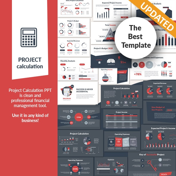 Project Calculation PowerPoint Presentation Template - Finance PowerPoint Templates