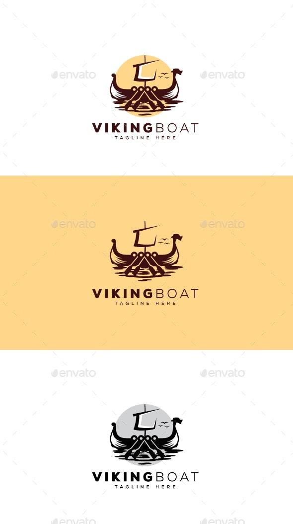 Viking Boat Logo - Objects Logo Templates