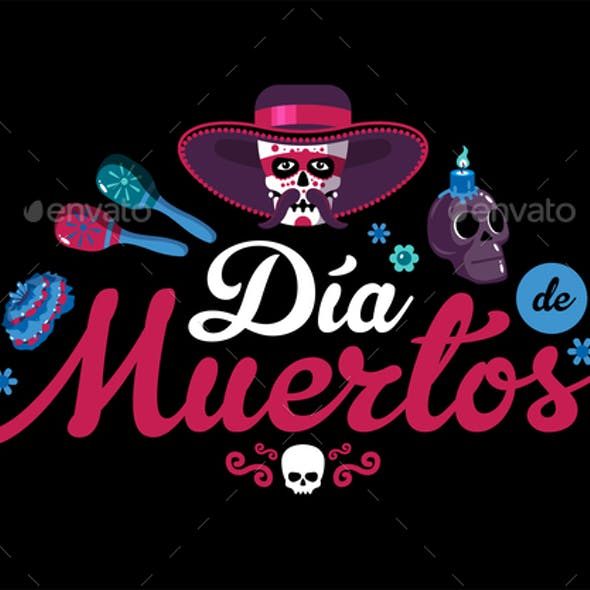 Day Of Dead Mexican Background