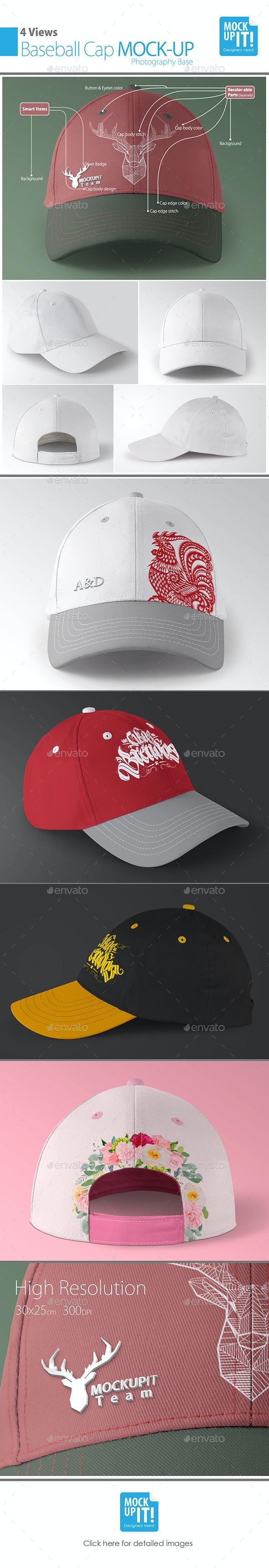 Baseball Cap Mockup - Apparel Product Mock-Ups