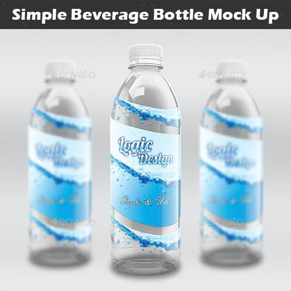Simple Beverage Bottle Mock-Up