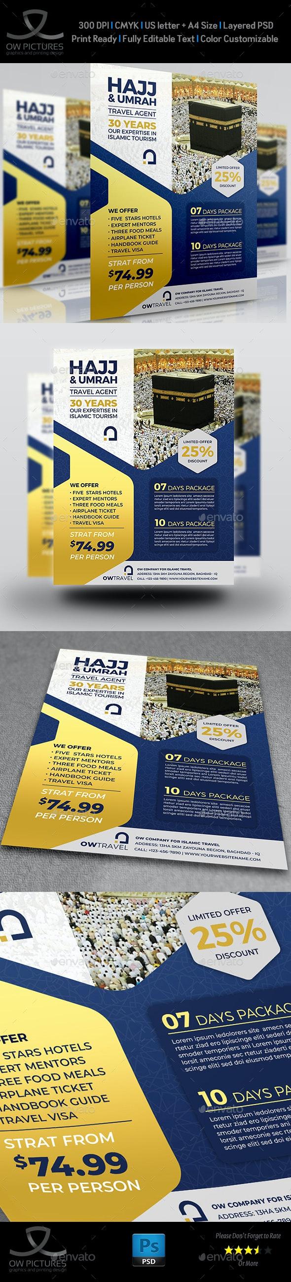 Hajj and Umrah Flyer Template Vol.2 - Flyers Print Templates