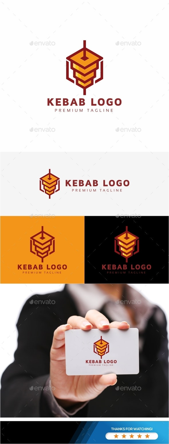 Kebab Logo - Food Logo Templates