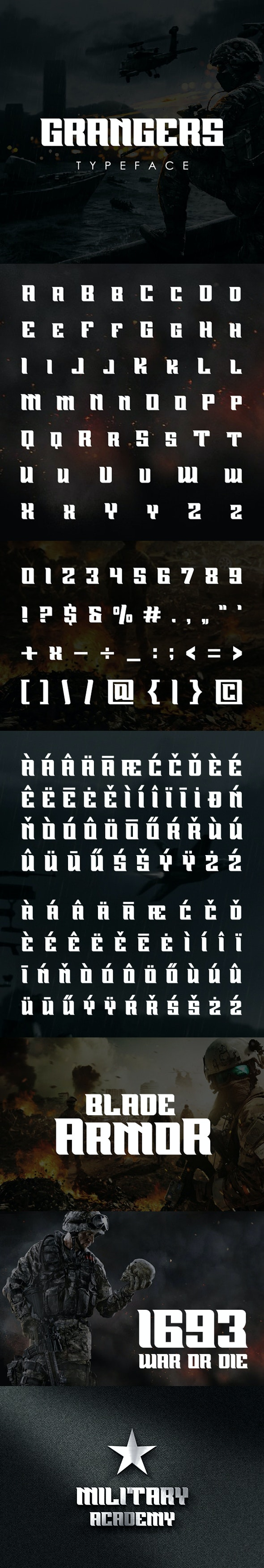 Grangers Font - Futuristic Decorative