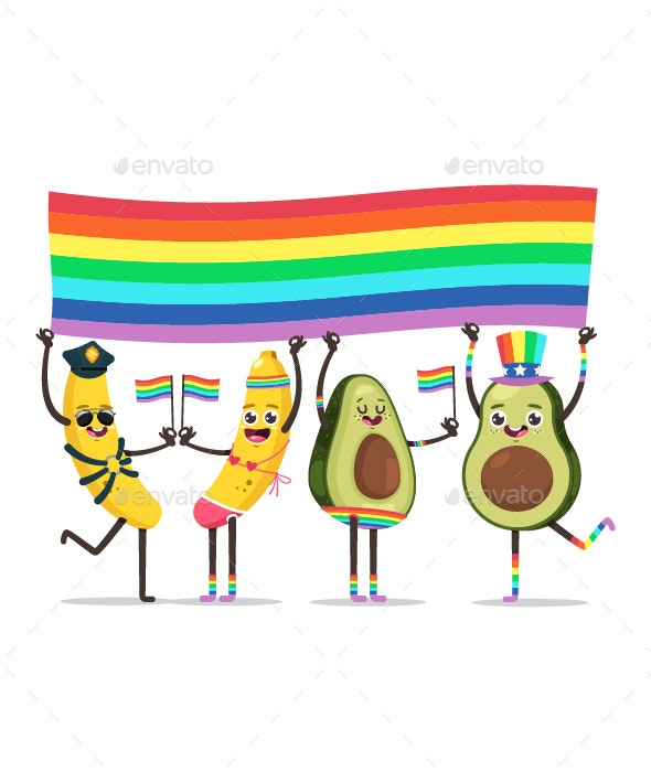 LGBT Gay Pride Parade Concept Vector Illustration - Characters Vectors