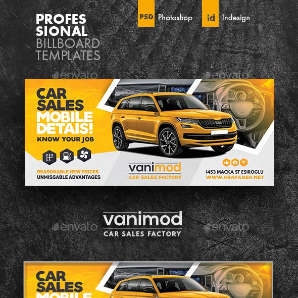 Car Sales Billboard Templates