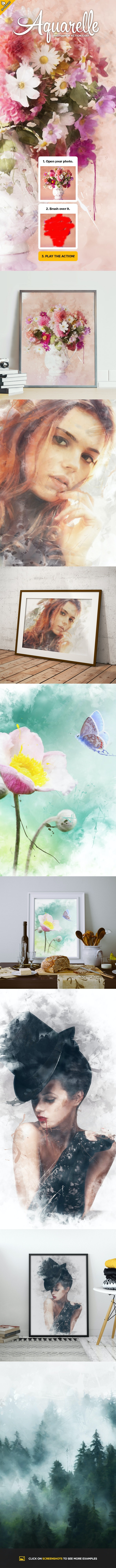 Aquarelle CS4+ Photoshop Action - Photo Effects Actions