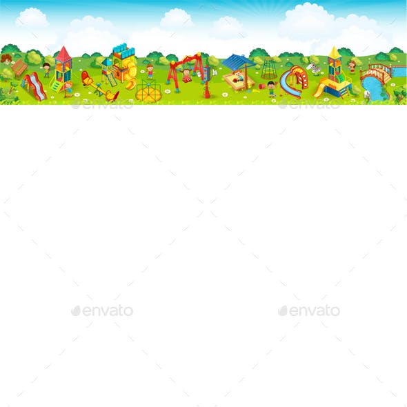 Panoramic Playground on the Meadow