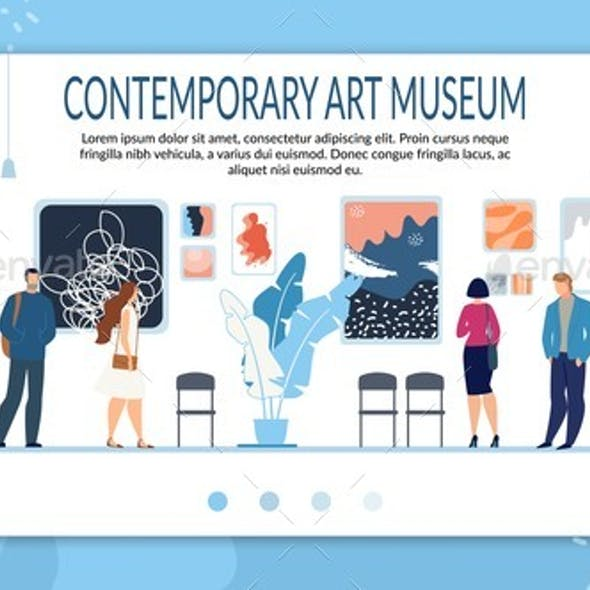 Landing Page Layout for Contemporary Art Museum