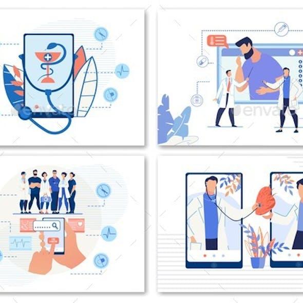 E-Health, Online Doctor Search or Telemedicine Set