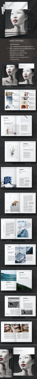 Black Magazine Layout - Magazines Print Templates