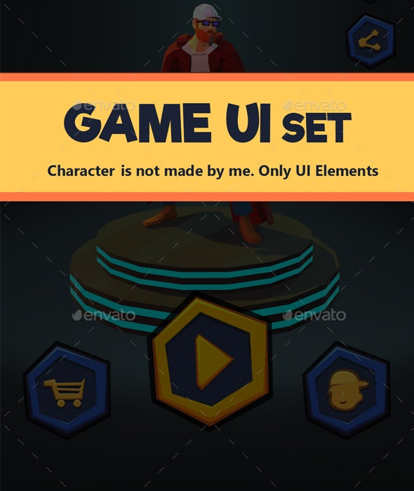 Casual Fighting Game UI - User Interfaces Game Assets