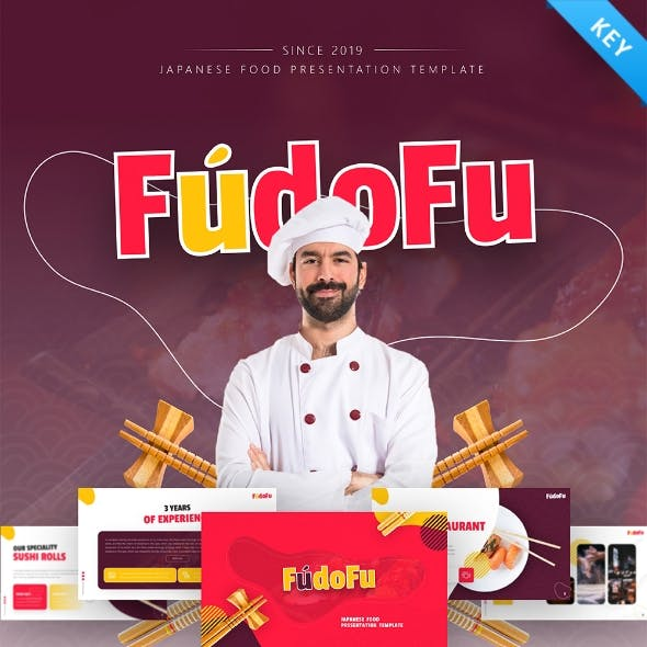 Fudofu Creative Animated Food & Beverage Keynote Template
