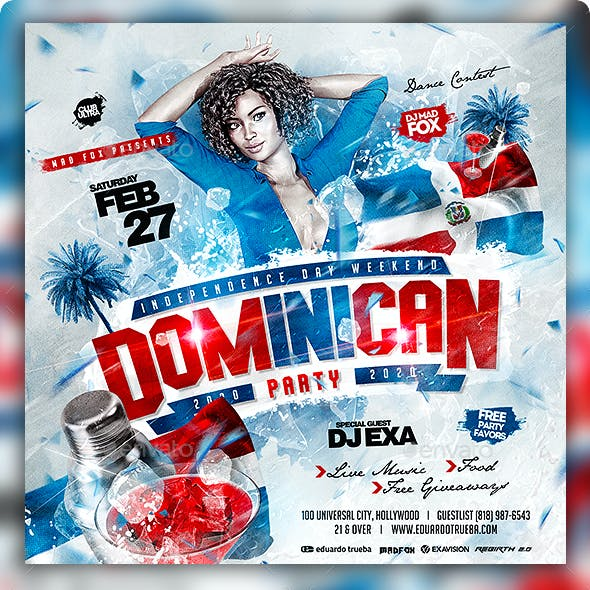 Dominican Republic Independence Day Party Flyer