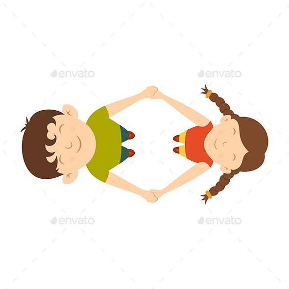Boy and Girl are Spinning - People Characters