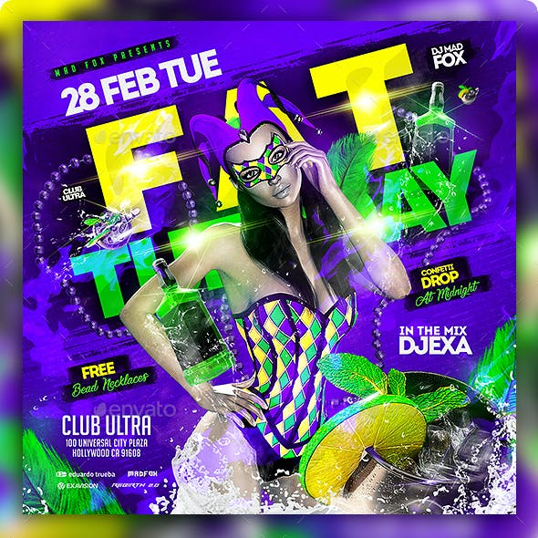 Fat Tuesday Party Flyer