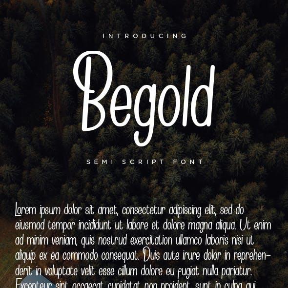 Begold - Semi Script Font