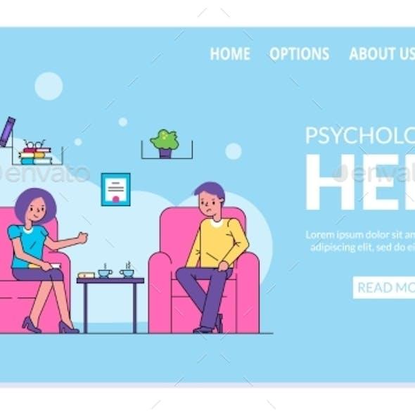 Psychological Help Website Patient Visiting