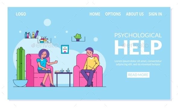 Psychological Help Website Patient Visiting - Health/Medicine Conceptual