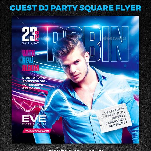 Guest DJ Party Square Flyer vol.5