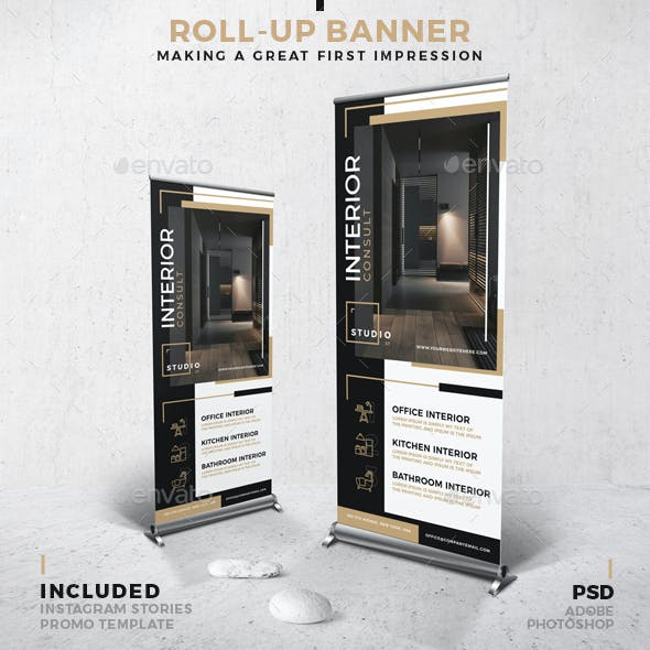 Interior Roll-Up Banner