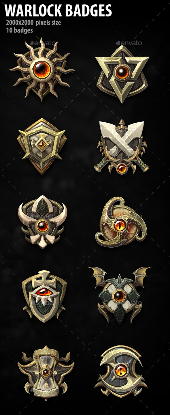 Warlock Badges - Miscellaneous Game Assets