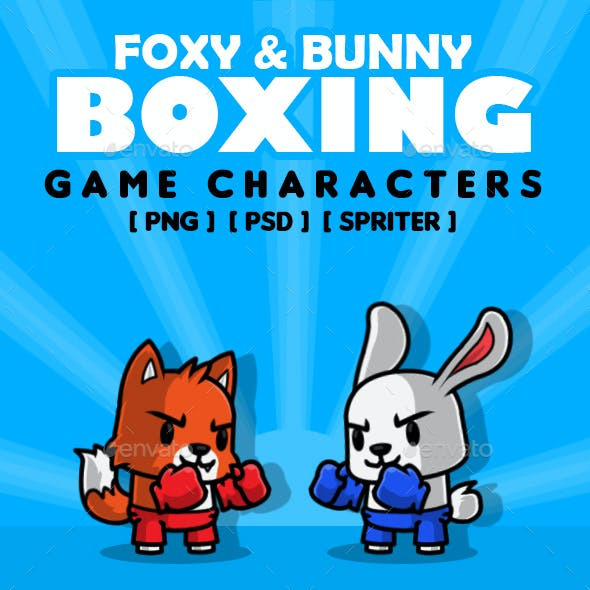 Foxy Bunny Boxing Characters