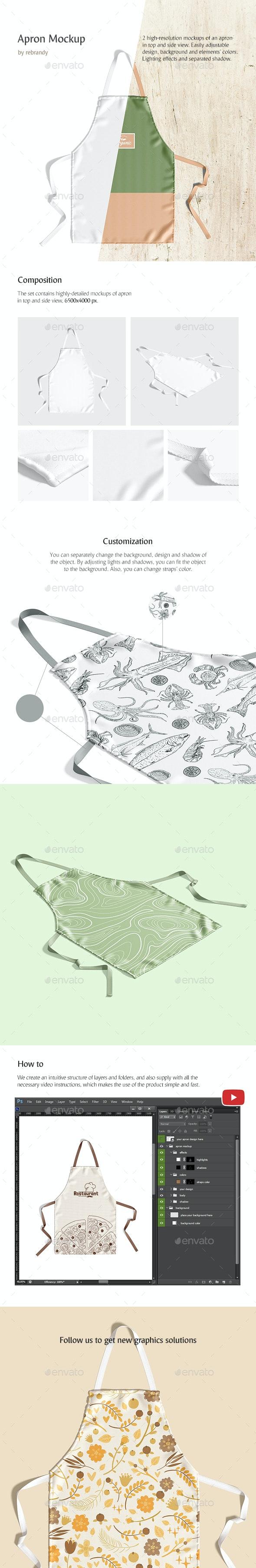 Apron Mockup - Product Mock-Ups Graphics