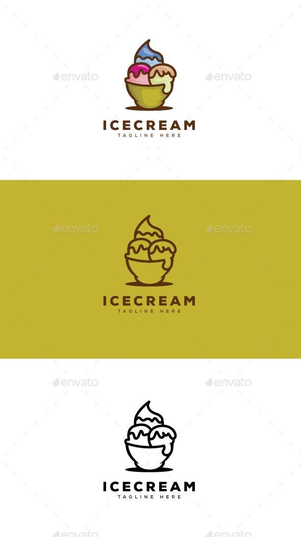 Ice Cream Logo - Food Logo Templates