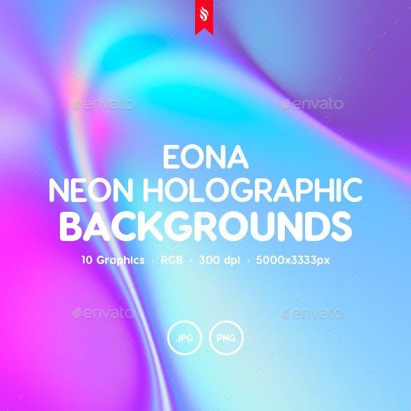 Eona - Neon Holographic Background Set