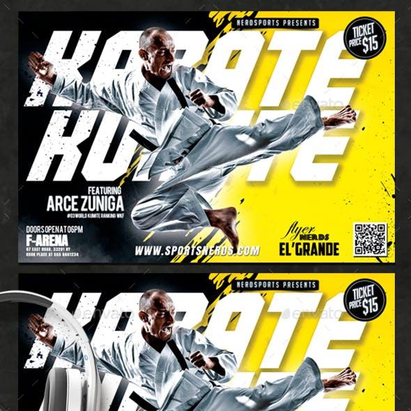 Karate Kumite Sport Flyer