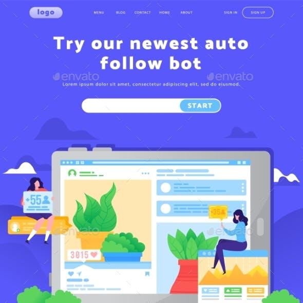 Vector Web Site Design Template. Digital Marketing