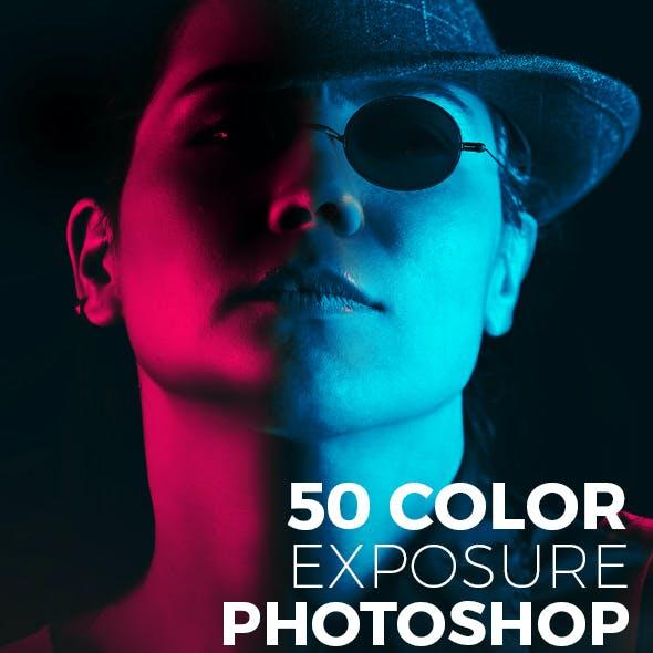 50 Color Exposure Photoshop Action