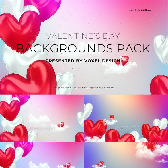 Happy Valentine's Day Background Pack