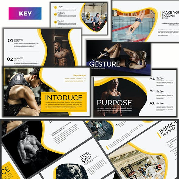 Gesture Athletics - Creative Keynote Template