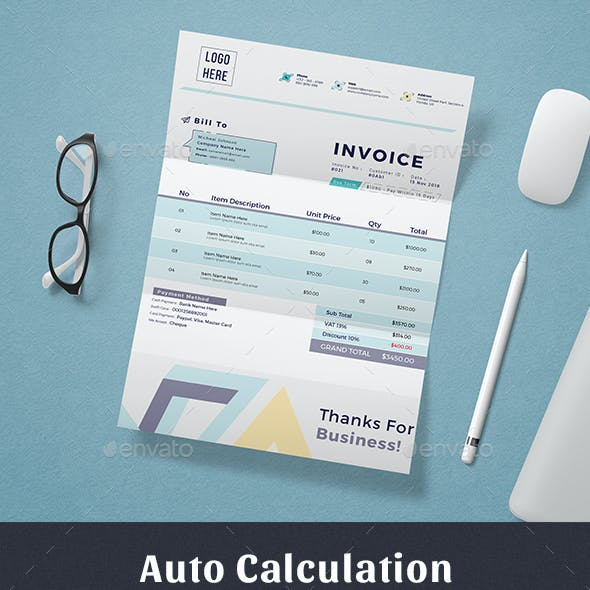 Invoice Excel Numbers