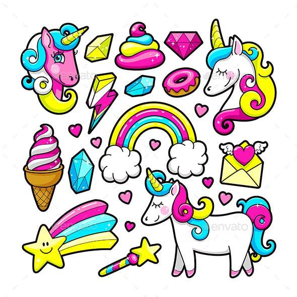 Unicorn Stickers Set