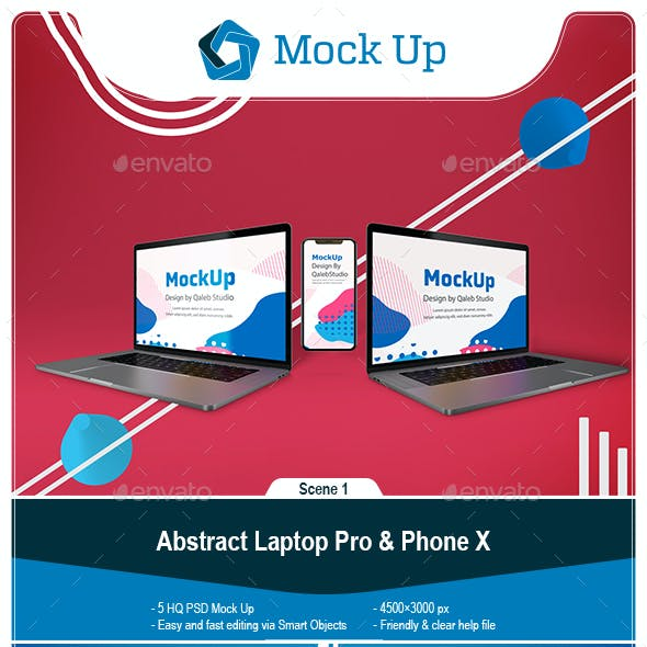 Abstract Laptop Pro & Phone 11